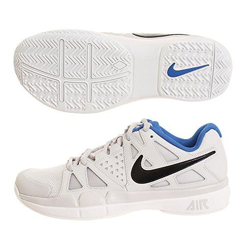 Nike Air Damp Voordeel Tennisschoenen Enorme Grijs / Zwart / Wit / Blauwe Nevel