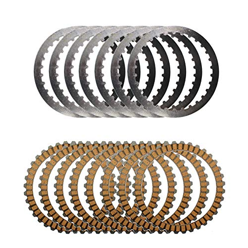 (Road Passion Clutch Steel Plate & Clutch Friction Plates for Harley Sport Glide/Sportster1200)