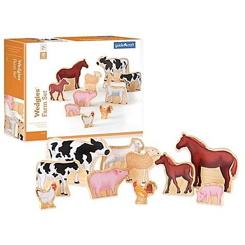 GuidecraftTM Wedgies 10-Piece Farm Animals Set