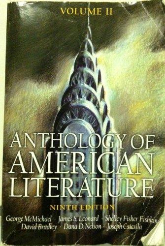 Anthology of American Literature Volume II (Anthology of American Literature)