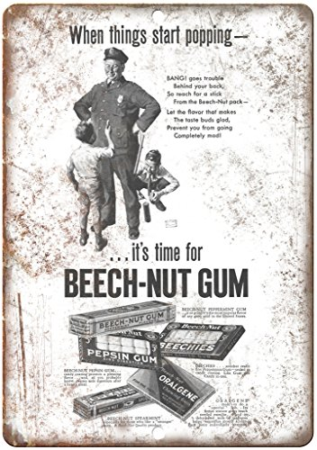 Beechies Gum (Beech-Nut Gum Beechies Police Officer Ad 12