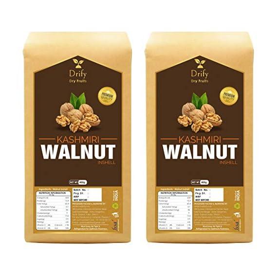 Drify Premium Kashmiri Walnut Inshell (800 gm)