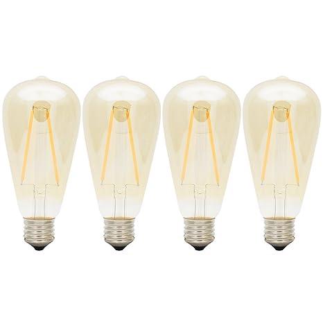 E27 Bombillas Edison Retro ST64 Bombilla Vintage 4W LED Retro 2200k 200LM Sustitución del Incandescente 20W