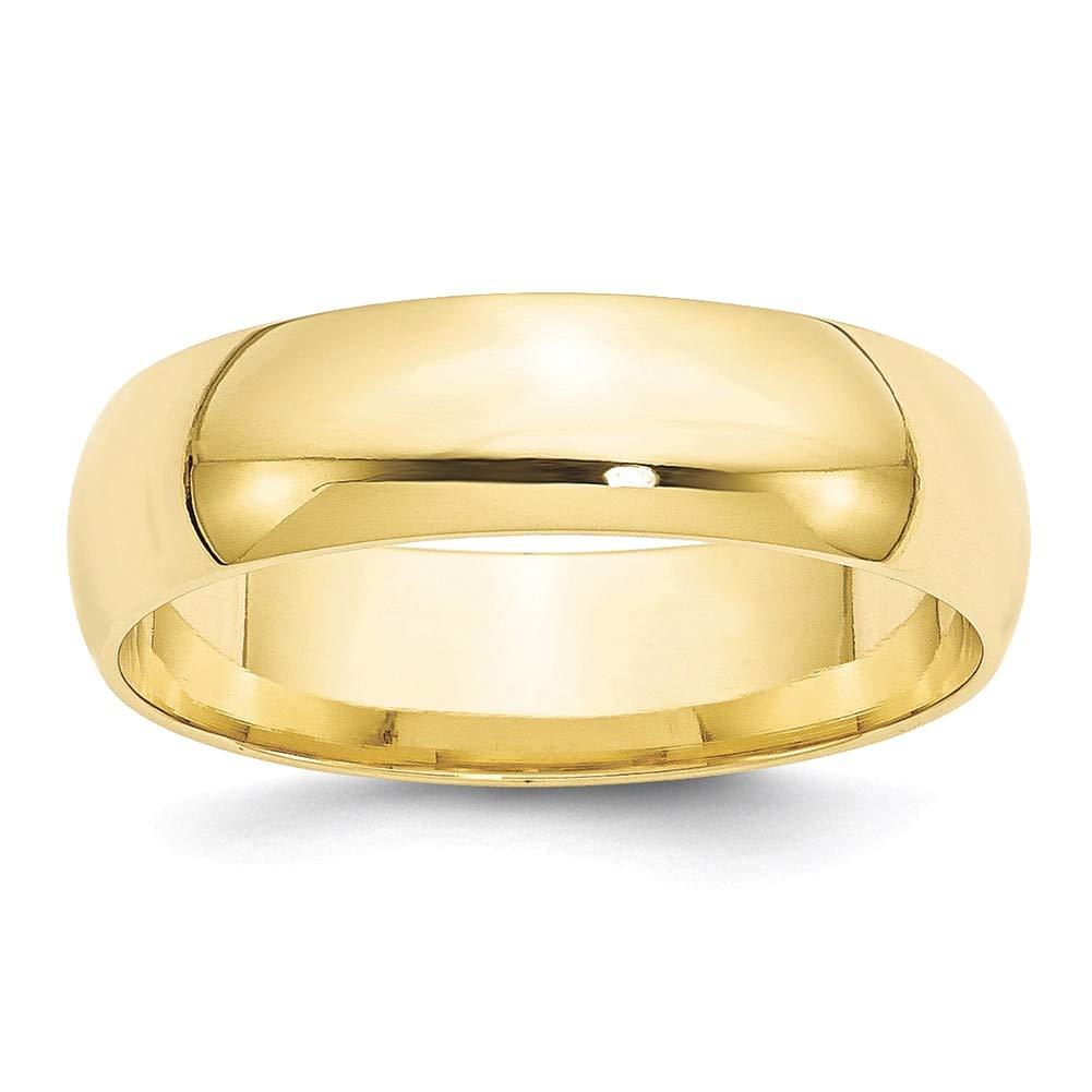 Lex /& Lu 10k Yellow Gold 6mm LTW Comfort Fit Band Ring