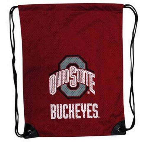 NCAA Ohio State Buckeyes Backsack with Draw Strings and Team Logo, Medium, Team Color