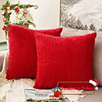 MIULEE Pack of 2, Corduroy Soft Soild Christmas...