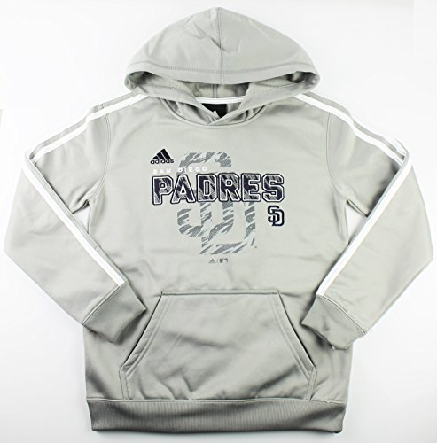 San Diego Padres MLB Youth Striped Pullover Hooded Sweatshirt (Youth Xlarge 18/20)