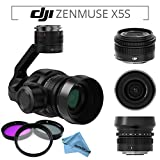 DJI Zenmuse X5S Camera and Gimbal with DJI MFT 15mm,F/1.7 ASPH Prime Lens for DJI Inspire 2 Quadcopter & Pro Series Filter Kit & eDigitalUSA Microfiber Cleaning Cloth