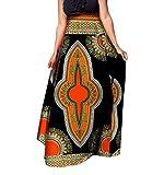 Vska Womens Short Skirts African Print Dashiki Big Pendulum Long Skirt 2 L