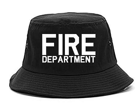 Fire Department Dept Mens Bucket Hat Cap Black at Amazon Men s ... aba1e84e1