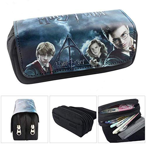 Lcrystal Harry Potter Stationary Pencil Holder Bag, Packing Organizer, Cosmetic Bag, Animation Purse