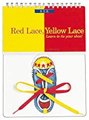 "This best-selling title offers an ingenious approach to teaching little ones to tie their shoes. Inside, irresistible rhyming text guides children through the process step-by-step. ""Red lace, yellow lace, Here's how you begin: Make an X but l..."