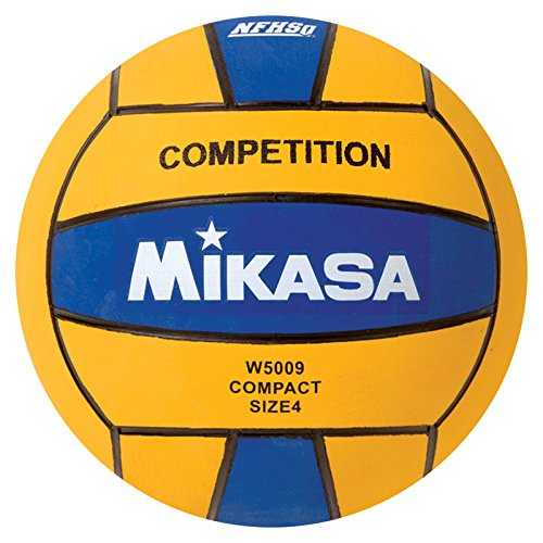 Ncaa Water Polo - Mikasa W5009BLU Competition Game Ball, Blue/Yellow, Size 4