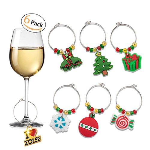 Zolee Wine Glass Charms, Set of 6