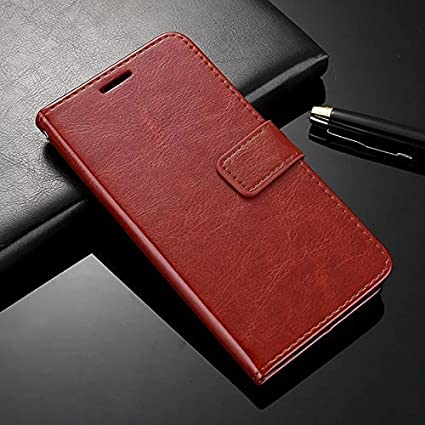 buy popular af4c7 e0a16 Febelo Xiaomi Redmi Note 5 Pro (2018) Pu Leather Magnetic Lock Flip Cover  Case for Xiaomi Redmi Note 5 Pro (2018),Vintage Brown