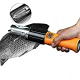 Electric Fish Scaler,Powerful Cordless Fish Scaler Scale Scraper Remover Cleaner Skinner Kit Build