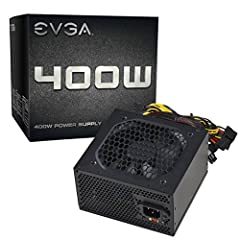 When building on a budget, the EVGA 400W power supply is a great choice at a low cost. Supporting 30A on a single +12V rail provides more options without having to reduce your component requirements. The EVGA 400Woffers the connections and pr...