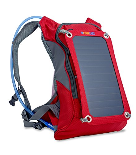 Sunlabz Solar Power Charger (7w) Backpack with 1.8L Hydration Pack - Ergonomic Back Pack with Solar...