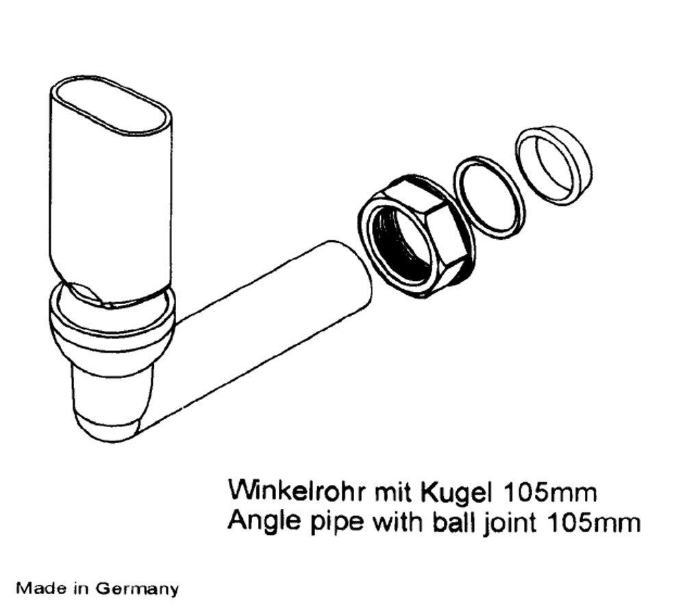 Siebkorbventil 114 mm verschlie/ßbar mit Bowdenzug /Überlauf Excenterbedienung Ablaufgarnitur Siebkorb f/ür K/üchensp/üle Chrom Made in Germany