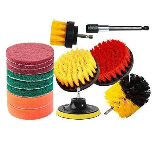 - Ktyssp Drill Brush 14PCS Drill Clean Brush Scrub Pads Sponge Power Attachmen (Yellow)