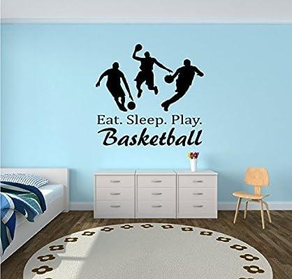 customwallsdesign Comer. Dormir. Juego. Baloncesto – Baloncesto ...