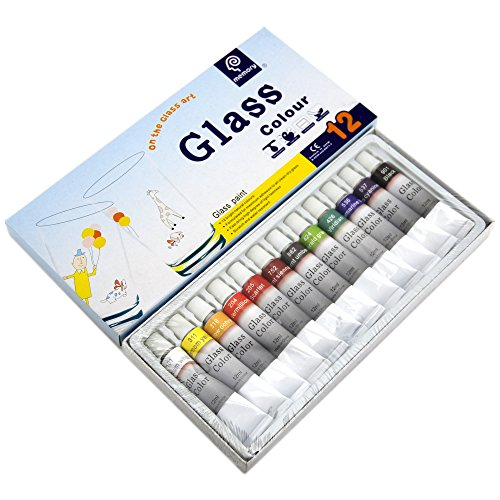 Korean Memory  Colors Professional Artists Stained Glass Paint Set