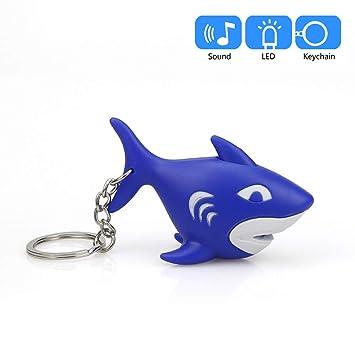 Amazon.com: Llavero con diseño de tiburón azul y dibujos ...