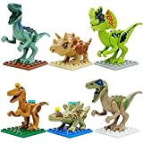 OliaDesign ABS Jurassic World Minifigures Jurassic Park Dinosaur Building Blocks (6 Piece), 3'