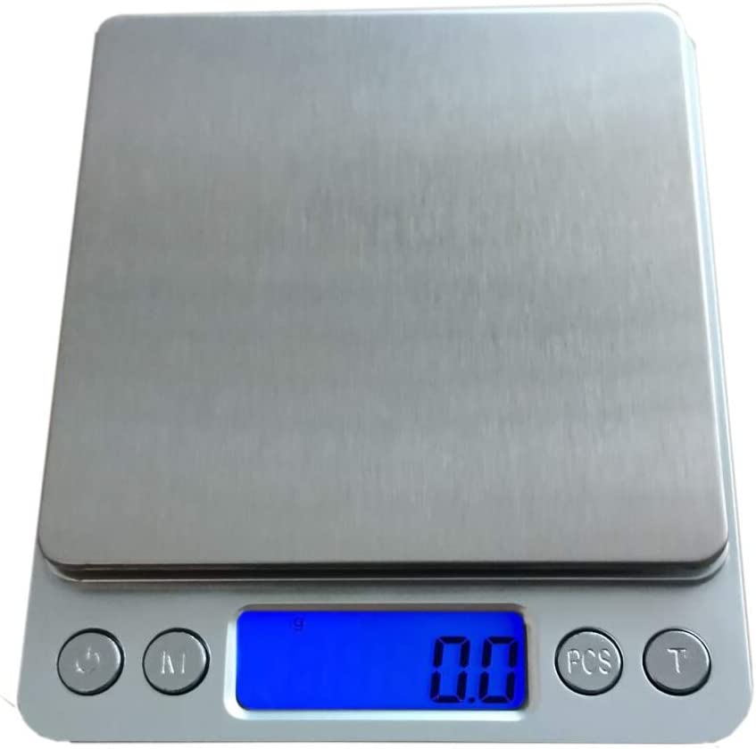 Digital Kitchen Scales, 3kg/0.1g Professional Digital Table Top Scale High-Precision Food Scales Jewelry Scales Nutrition Scales with LCD Back-Lit Display