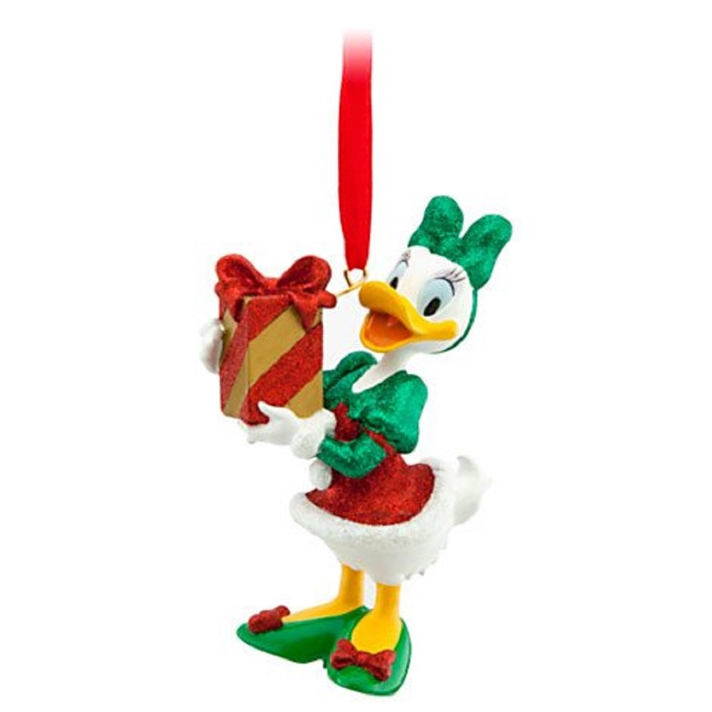 Daisy Duck with Present Christmas Ornament