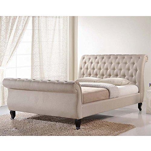 Baxton Studio Antoinette Modern Platform Bed, King, Light Beige