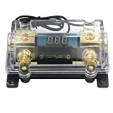 ZOOKOTO 250A Fuse Holder,Car Stereo Audio Led Display Digital Voltage Inline ANL Fuse Holder 0 2 4 Gauge in out with 250 Amp Fuse
