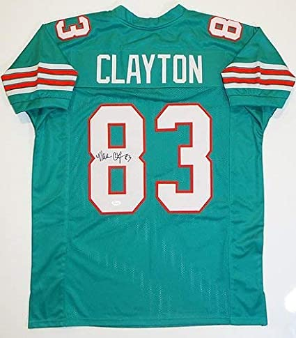 the best attitude 3bcc8 c8687 Mark Clayton Signed Autograph Teal Pro Style Jersey (Size XL ...
