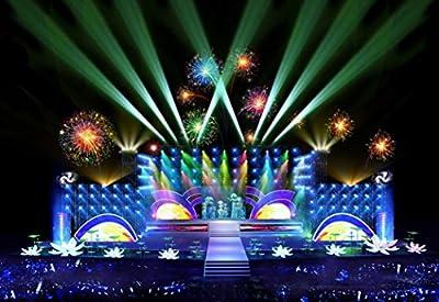 Professionals Lights Stage,Tuscom@ LED PAR 18 RGB LED DMX Stage Lighting Effect DMX512 Master-Slave Led Flat DJ Disco KTV Party