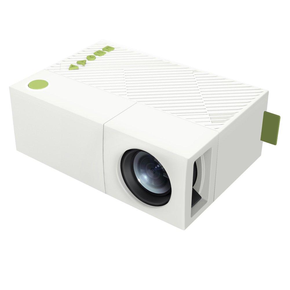 Alloet Mini Portable YG310 LED Projector Home Cinema Theater PC Laptop CVBS USB TF