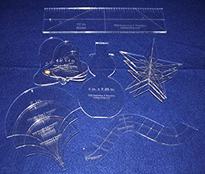 "Holiday Gift Set - ~1/4"" Acrylic-- 12 Pieces -Quilting Templates"