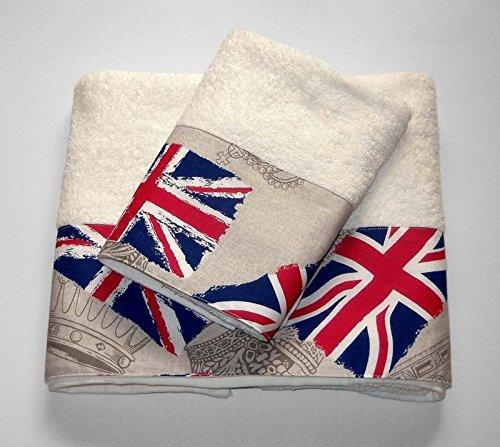 Par de toallas de rizo, con toalla de invitados, con dibujo ...