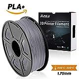 SUNLU 3D Printer Filament,PLA Plus Filament - 1.75 mm Grey 1kg Spool (2.2 lbs) - Dimensional Accuracy +/- 0.02mm - 100% Virgin Raw Material