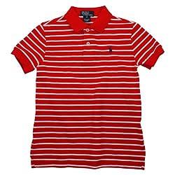 Ralph Lauren Kid's Boy's Toddler Striped Pony Logo Polo Mesh Shirt