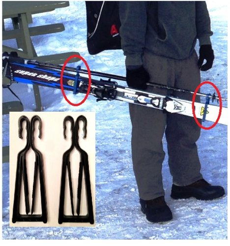 klipski - easy ski and pole carrier  7 colors available