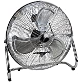 High Velocity Floor Fan - Industrial Strength Fan - 3 Speeds - For home, Workspace and Job Sites - 20 Inch Fan