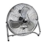 Deco Beeze High Velocity Floor Fan - Industrial Strength Fan 3 Speeds for Home, Work, Gyms, and Job Sites - Wall Mount Included - (Stainless Steel)