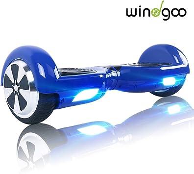 Windgoo N1 Overboard Hoverboard, 6.5 Pulgadas 250W 2WD Glyboard, Actualiza con Luz LED, Regalo para Niño Adulto: Amazon.es: Deportes y aire libre