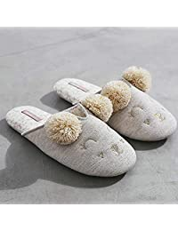 ZYGAJ Autumn Winter New Soft Cute Cure Lamb Indoor Home Women Slippers Waterproof Anti-Slip Lovely Slippers Female Adult Shoes