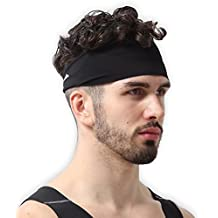 Mens Headband - Guys Sweatband & Sports Headband Running, Crossfit, Working Out Dominating Your Competition - Ultimate Performance Stretch & Moisture Wicking