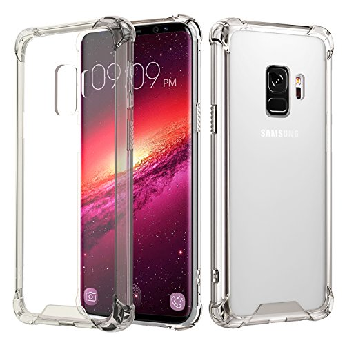 Samsung Galaxy S9 Case, MoKo Crystal Clear Reinforced Corners TPU Bumper Cushion...