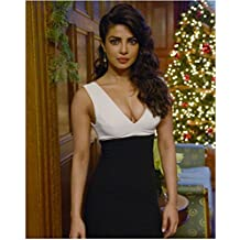 Priyanka Chopra 8 inch x 10 inch PHOTOGRAPH Barfi! Don 2 Don Agneepath Sexy in Low-Cut Black/White Dress kn