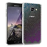 kwmobile Elegant and light weight Crystal Case Design Aztec sun for > Samsung Galaxy A5 (version 2016) < in petrol dark pink transparent