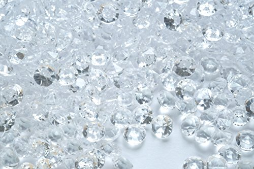 8.0mm 2 Ct 1000 Pcs Clear Wedding Party Diamond Confetti Table Scatters Decoration Good Crafted DIY (Party Table Ideas)