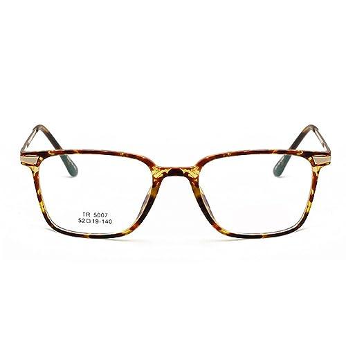 LUFA Moda unisex TR90 super ligeros Square Gafas hombres y las mujeres de las lentes